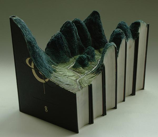 Guy Laramee's Book Landscape