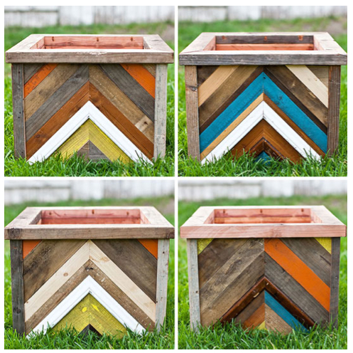 recycled wood chevron planter.jpg