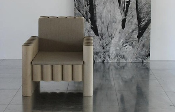 Chair from Recycled Cardboard Tubes | Make: