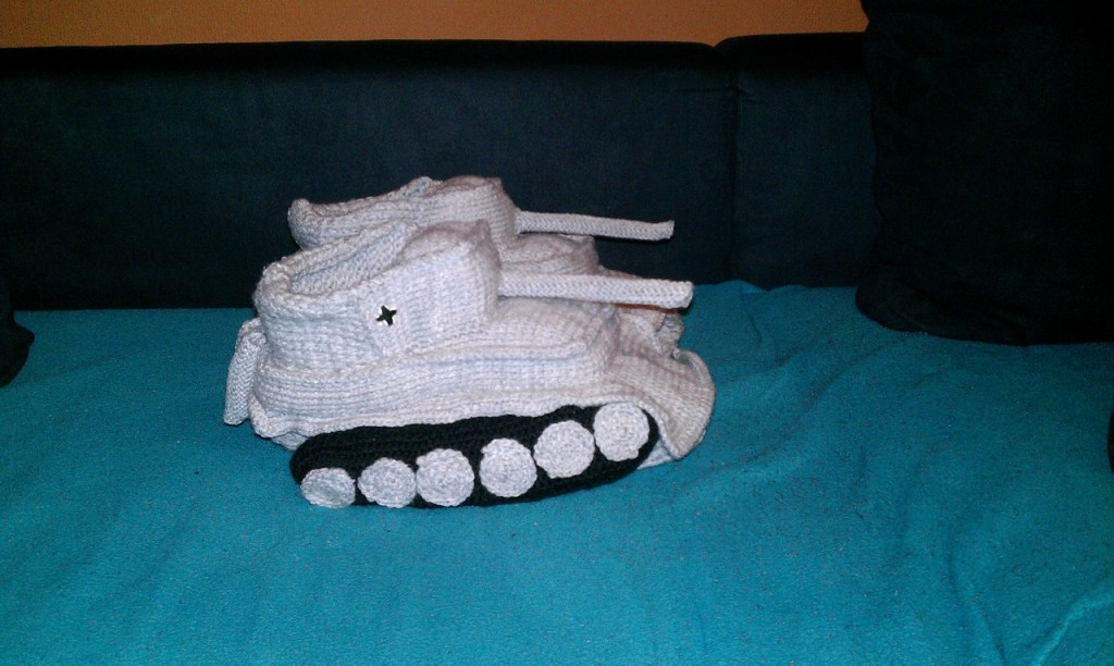 Crocheted Tank Slippers Make