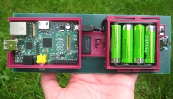 RPi Solar FTP Server Under Side