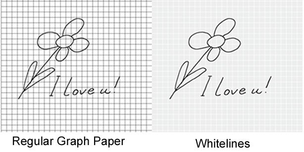 Whitelines Graph Paper