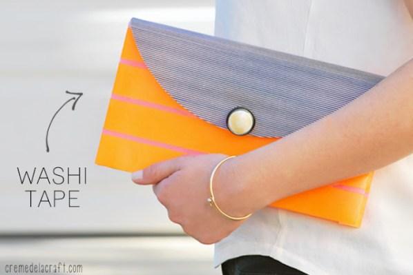 DIY-Craft-Idea-Fashion-Make-Washi-Tape-Clutch-Purse