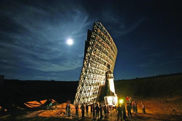 backside of Interstellar Light Application's moon light collector.