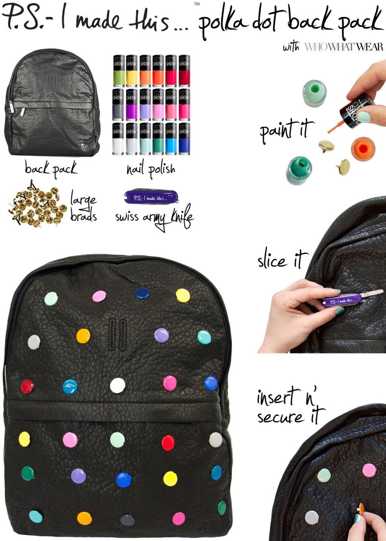PS polka dot backpack