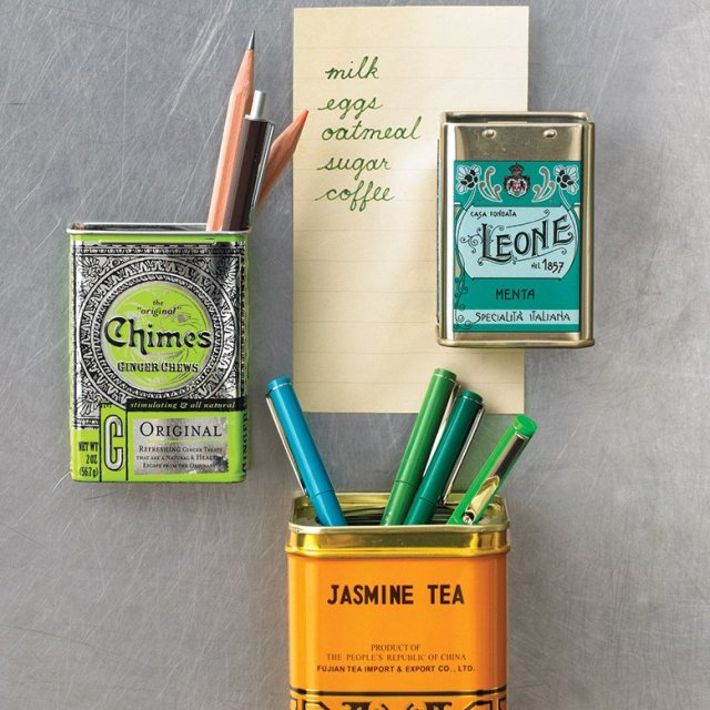 tea tin container magnets