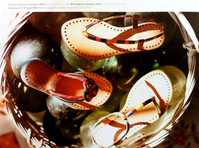 well raveled woman-sandles
