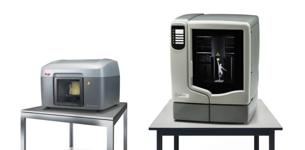 Stratasys Mojo, left, vs. uPrint.