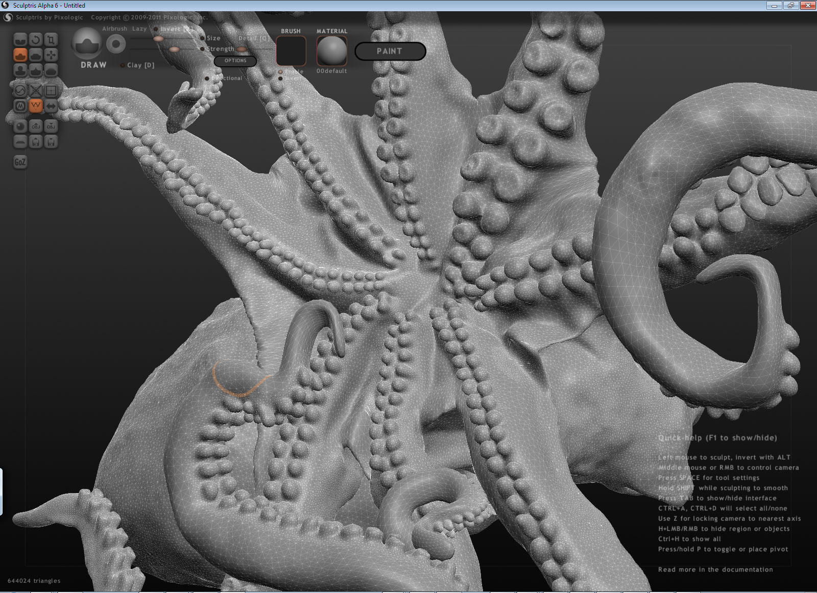 Creating an Accurate Anatomical Model of an Octopus in 3D