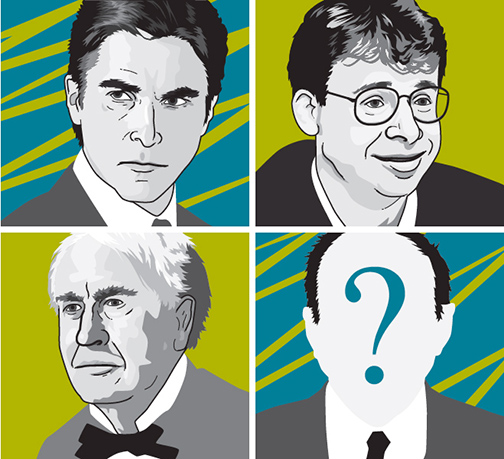 Famous inventors of fiction and reality. Top: Bruce Wayne and Wayne Szalinsky. Bottom: Thomas Edison and who nows? It could be you. Just don't expect to retire to a life of luxury after filing a single patent.