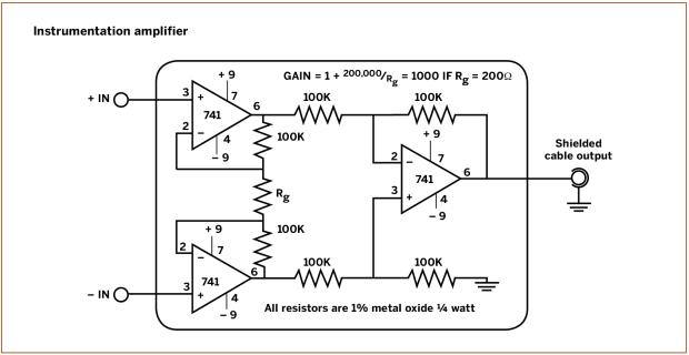 Instrumentation amplifier circuit