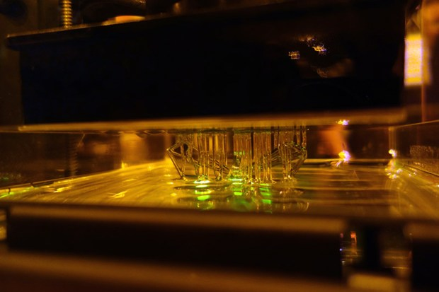 Form 1's stereolithography at work