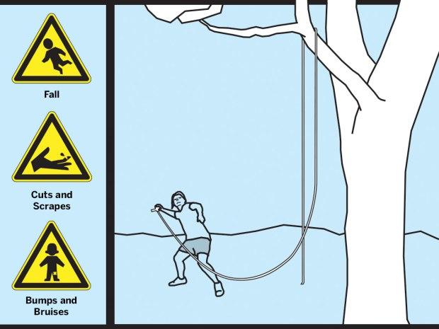 Danger — Make a Rope Swing
