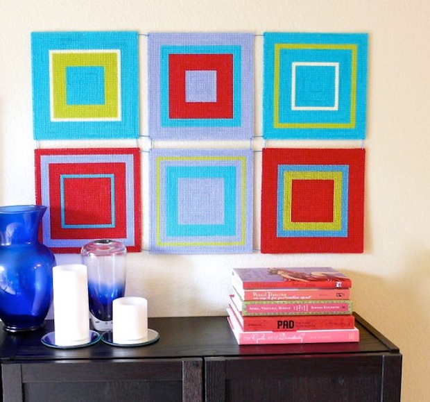 How-To: Modern Plastic Canvas Wall Art | Make: