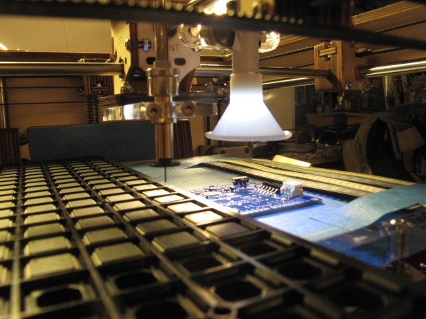 The Electronics Factory desktop pick and place machine