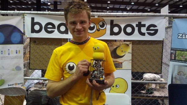 Marek from BeatBots with a Keepon Pro