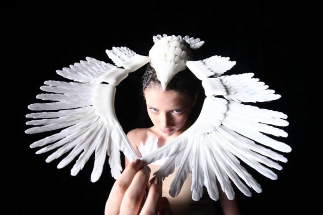 3d fashion wing headress