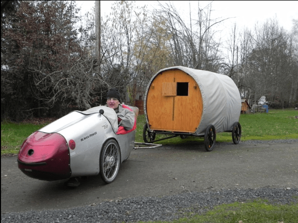 eds velomobile with trailer