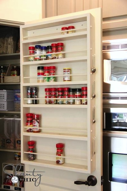 How To Pantry Door Spice Rack Make