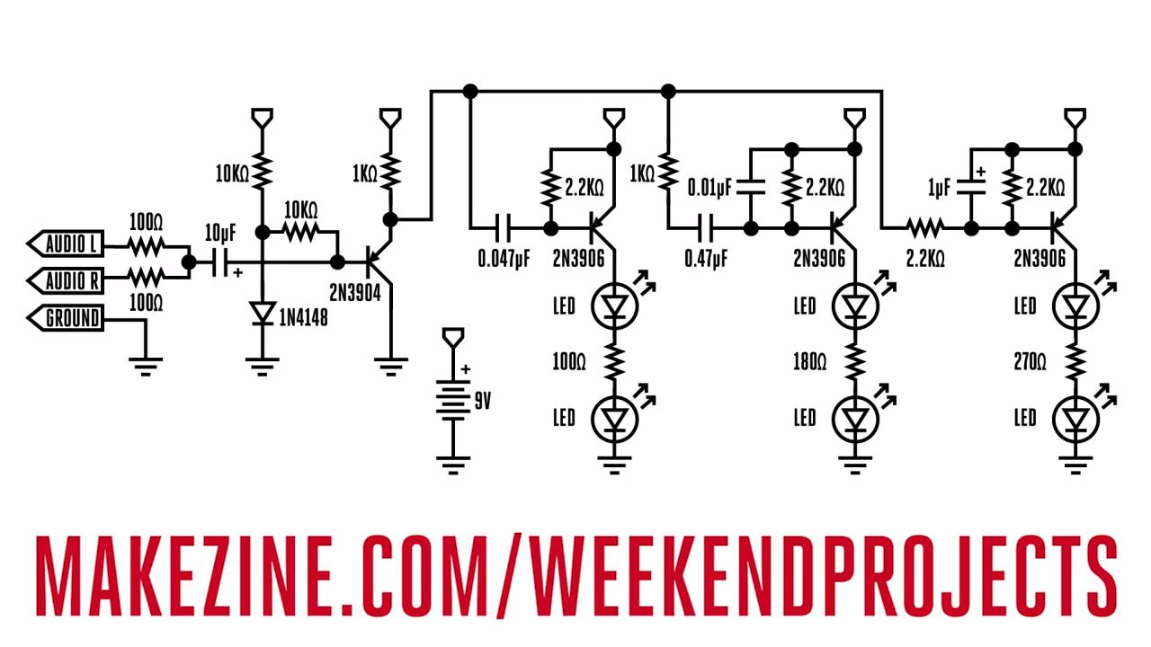 Easy Led Circuit Free Vehicle Wiring Diagrams Simple Flasher Circuits Color Organ That Blinks 3 Colors Make Rh Makezine Com Flashing