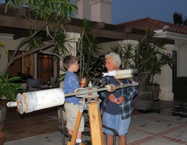 David and William preparing to sky gaze (Photo credit: Andrew Terranova)