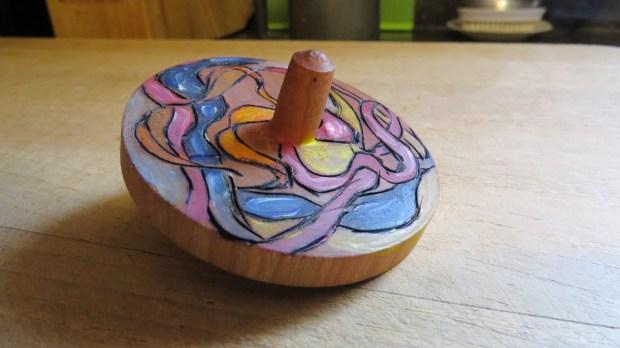 Turned wooden top, Brunswick Art Festival Photo: Andrew Terranova