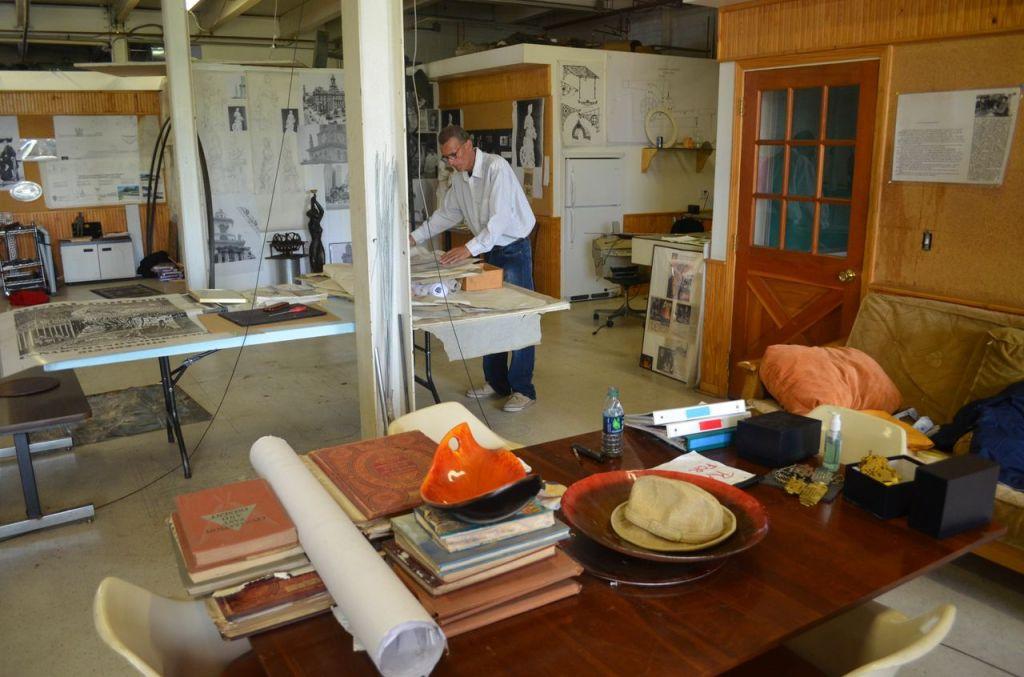 carlos in the workshop