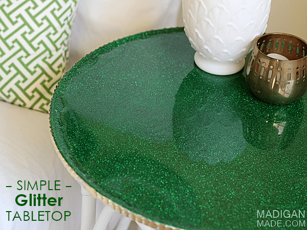 How-To: DIY Glitter Tabletop