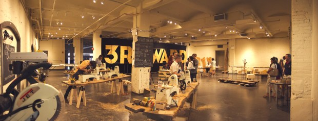 "Brooklyn-based 3rd Ward is currently holding a ""Make 'N' Take"" pop-up shop in the Chelsea Market in Manhattan. Workshops include making candles, cutting boards, and autoprogrezzione chairs, among other arts."