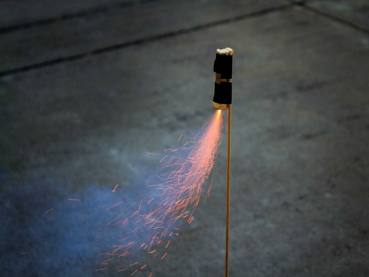 Homemade Potassium Nitrate and Sugar Rocket | Make: