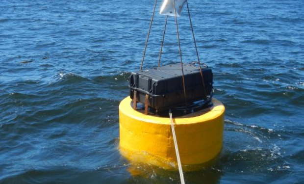 Deploying the Wave Energy Converter just off the coast in Bodega Bay, Calif.