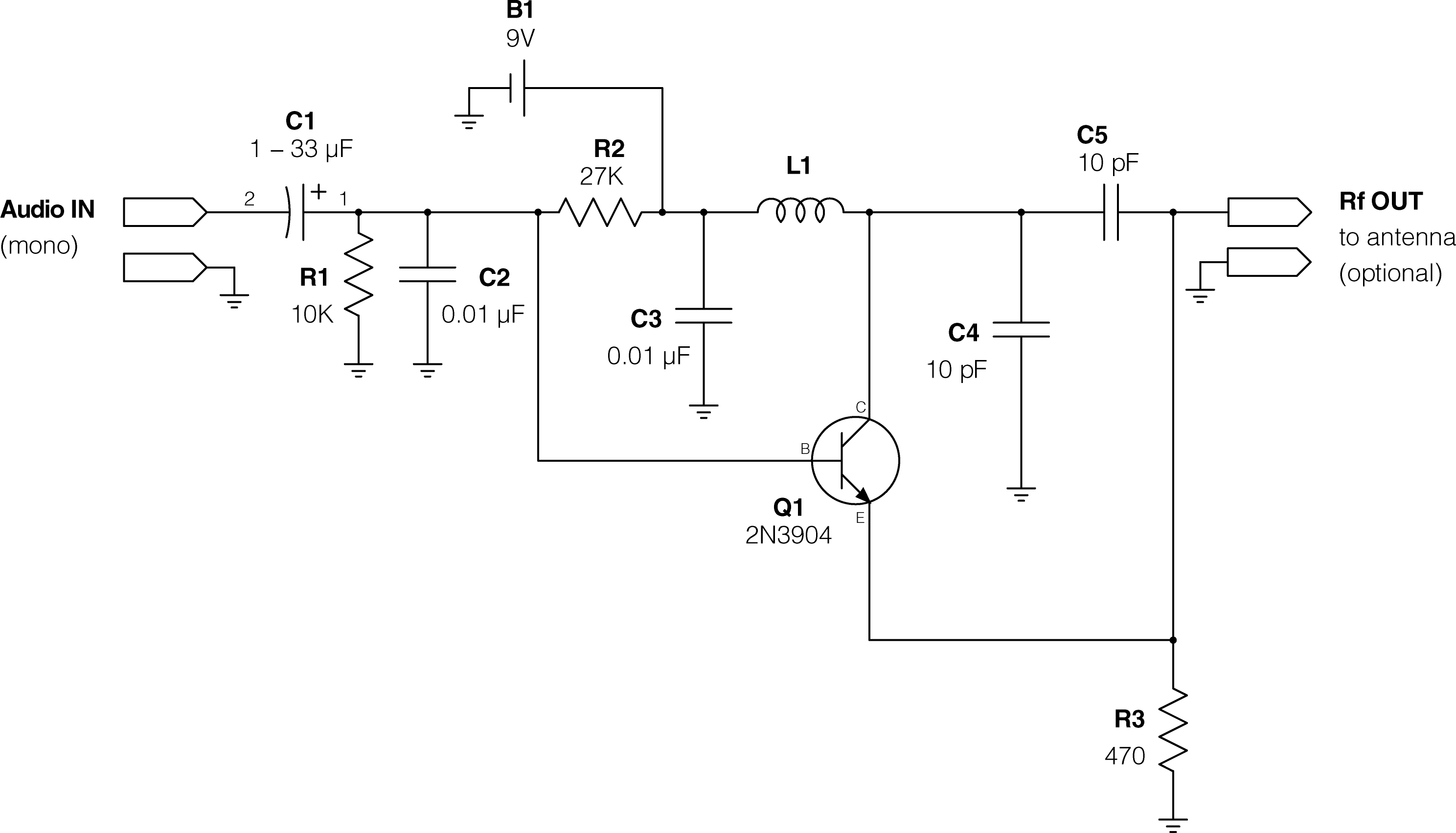 Simple Fm Transmitter Circuit Diagram 37 Wiring Images Spy Bug Using Transistor Gadgetronicx Kogawa Simplest Transmitterresize6202c354 Super Ipod Make