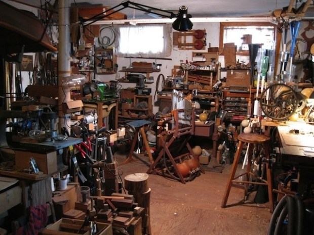Len Solomon, Shop Overview with Little Pipe Organ 0829