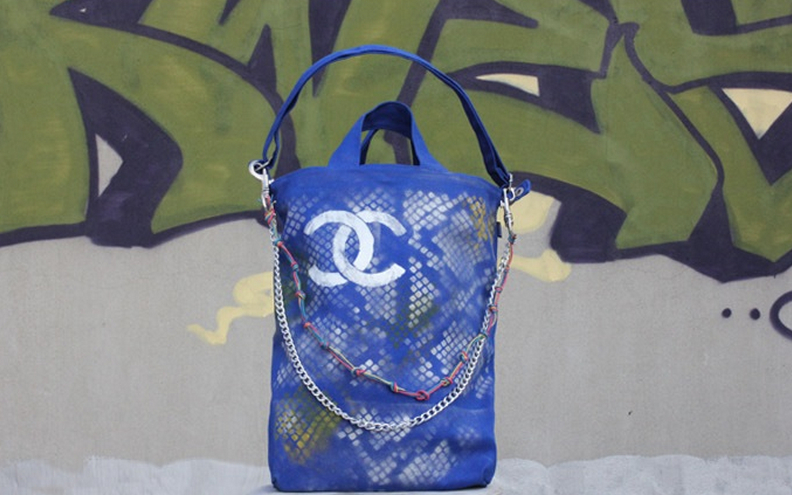 chanel graffitti tote