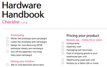 From Indiegogo's Hardware Handbook