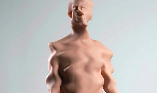 A sculpture by Richard Dupont, currently on display at the Museum of Art and Design in New York City.