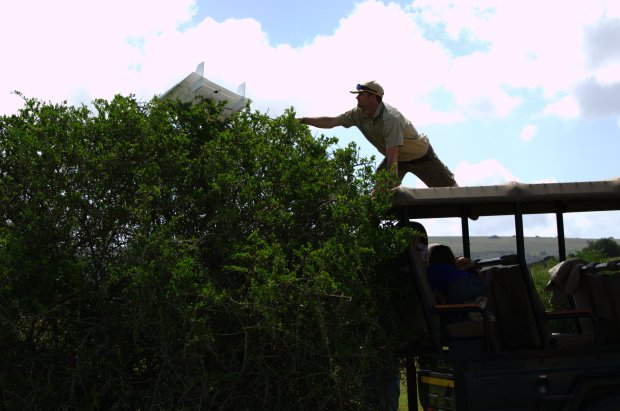 Ranger Asher assists in UAV retrieval
