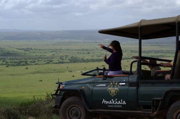 Al-Kareem Foundation Founder and CEO Princess Aliyah tours Amakhala Game Reserve as a potential site for the finals