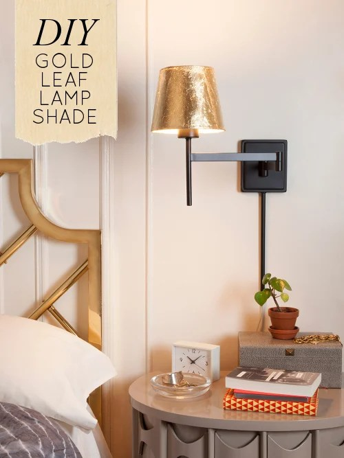 gold leaf lampshade