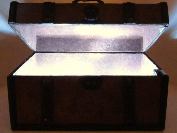 DIY Hacks & How To's: Glowing Treasure Chest