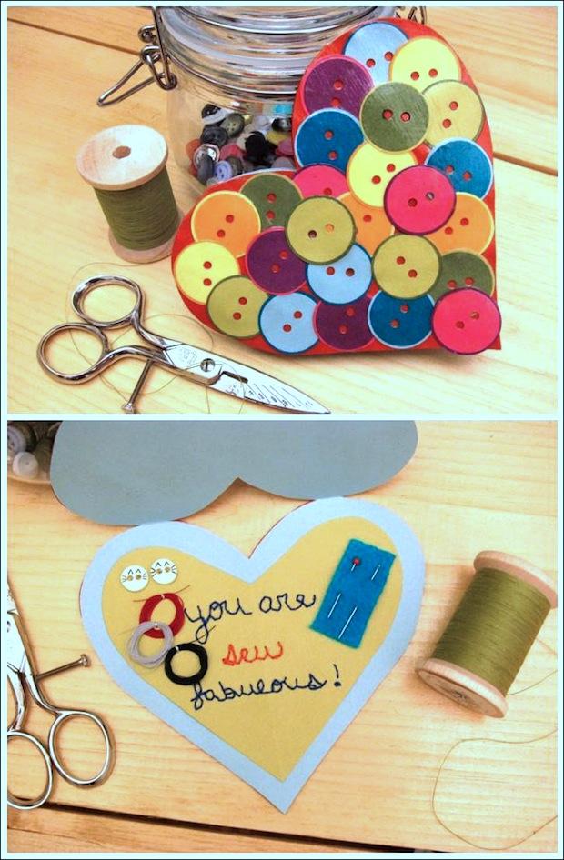 Flashback: Sewing Kit Valentines Card