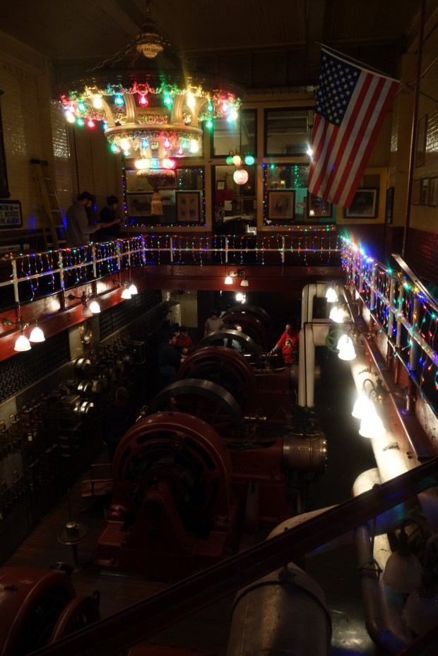 The view of the Engine Room from the mezzanine.