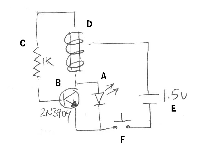 install wind up flashlight diagram