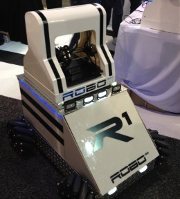 Robo 3D on a Robot at CES 2014