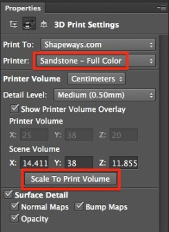 New Photoshop options to print to Shapways