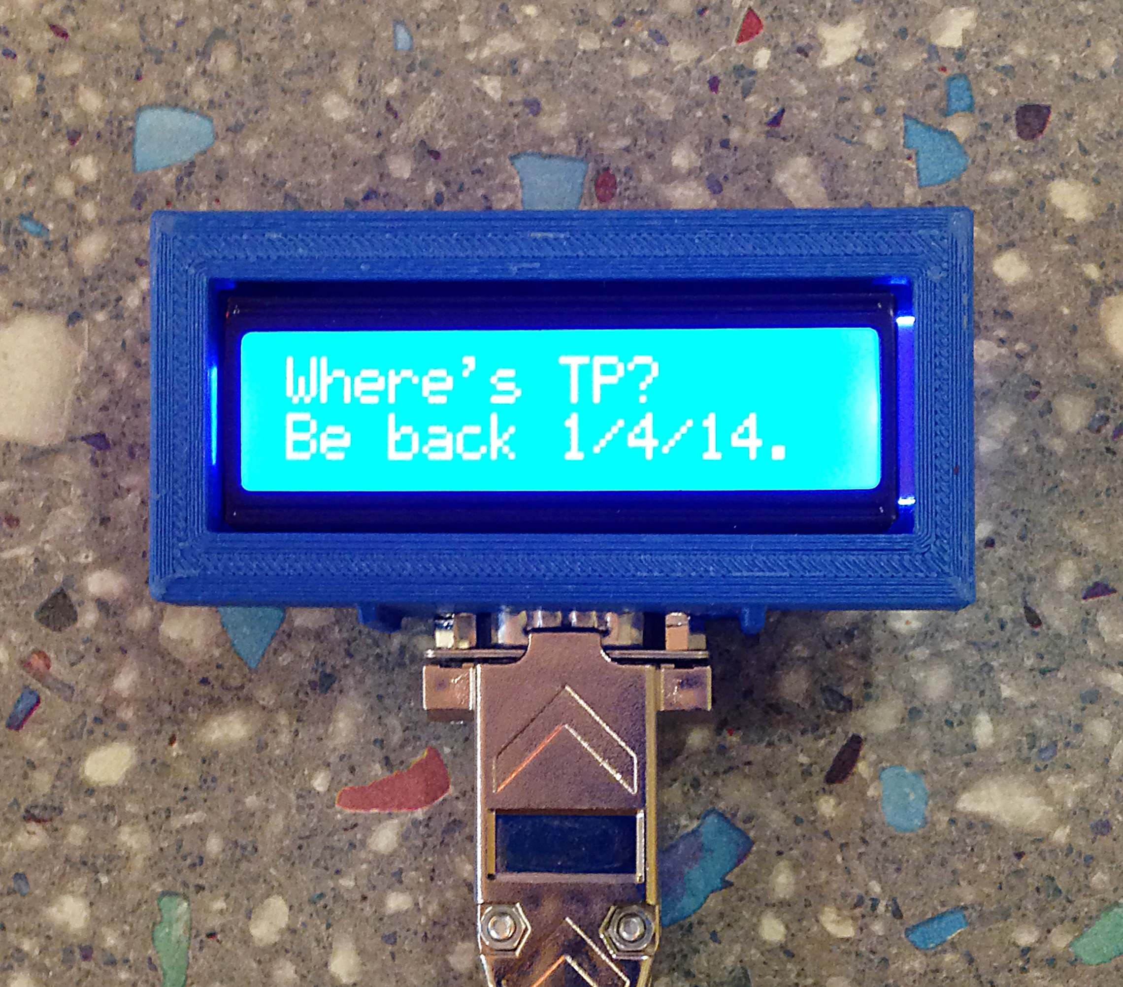 The Connected Office: Text Message-Based Remote Display
