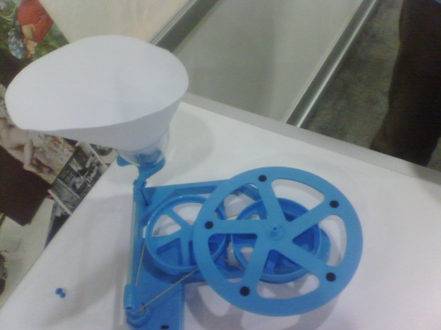 Make 2 Play's handmade gramophone.
