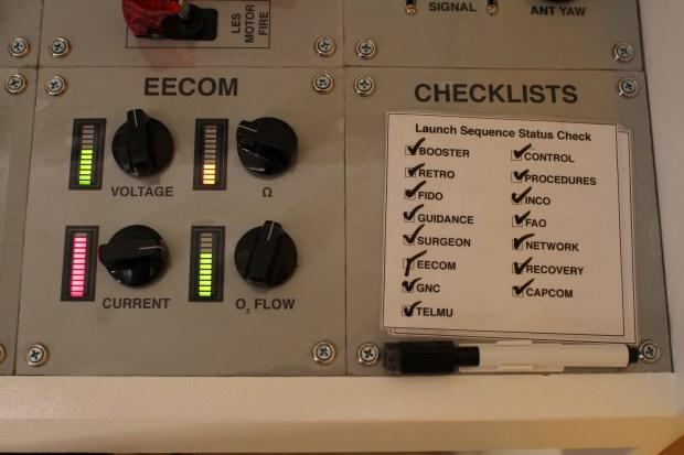 Mission Control Desk EECOM