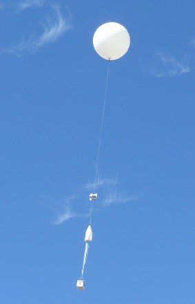 High Altitude Balloon in flight