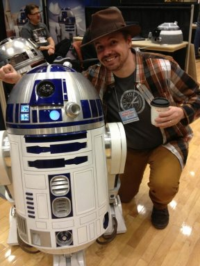 Paweł and R2-D2 at Las Vegas Mini Maker Faire 2013